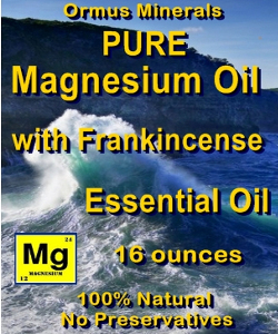 Ormus Minerals -Pure Magnesium Oil with FRANKINCENSE EO