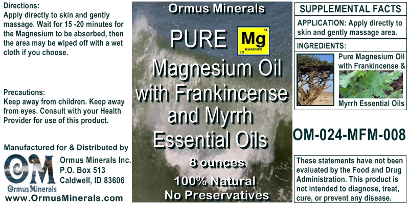 Magneisum Oil with Frankincense and Myrrh